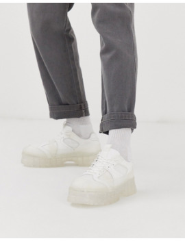 asos-design-sneakers-in-off-white-with-chunky-translucent-sole by asos-design