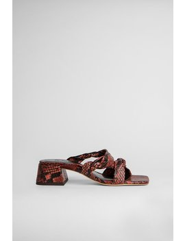 Donna Burgundy Snake Print Leather by By Far