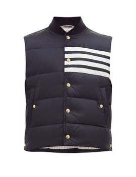 4-bar-chest-stripe-padded-gilet by thom-browne