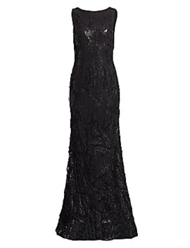 sequin-embroidery-flared-column-gown by rene-ruiz-collection
