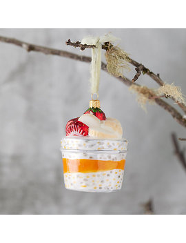 Overnight Oats Glass Ornament by Terrain