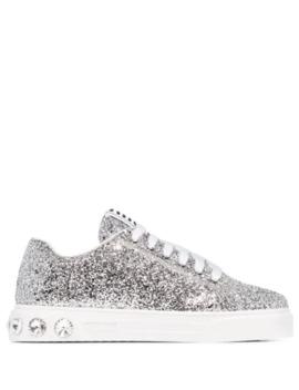 glitter-effect-low-top-sneakers by miu-miu