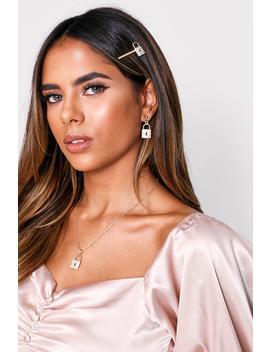 diamante-padlock-earring-&-necklace-setdiamante-padlock-earring-&-necklace-set by misspap