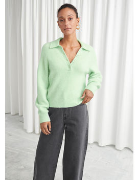 collared-wool-blend-ribbed-sweater by &-other-stories