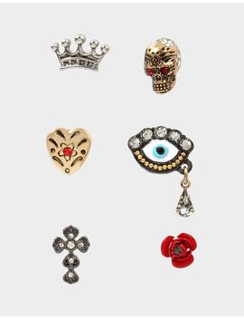 Rockin Riches Stud Earring Set Multi by Betsey Johnson