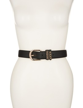 keeper-gold-tone-chain-leather-belt by vince-camuto