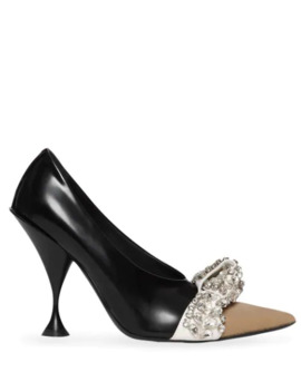 crystal-embellished-pointed-pumps by burberry