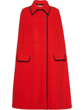 double-breasted-knit-cape by miu-miu
