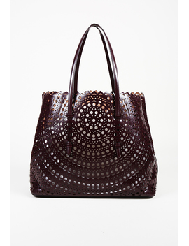 Laser Cut Leather Tote Bag by Alaia