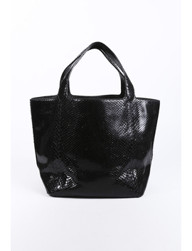 Snakeskin Leather Tote Bag by Alaia
