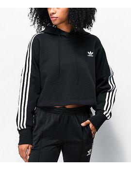 adidas-black-crop-hoodie by adidas