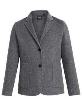 double-faced-shrunken-wool-blend-blazer by theory