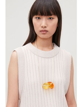 glass-bead-statement-necklace by cos