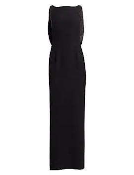 satin-back-sleeveless-gown by emporio-armani