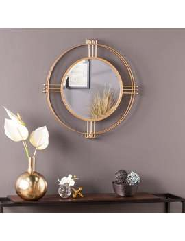 silver-orchid-iness-art-deco-gold-metal-mirror by silver-orchid