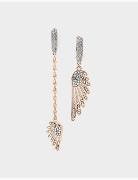 Get Your Wings Mismatch Earrings Crystal by Betsey Johnson
