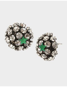 Star Power Fireball Stud Earrings Crystal by Betsey Johnson