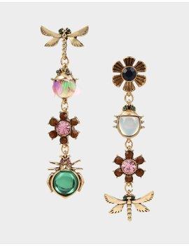 Tortifly Bug Linear Earrings Multi by Betsey Johnson