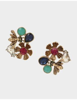 Tortifly Button Earrings Multi by Betsey Johnson