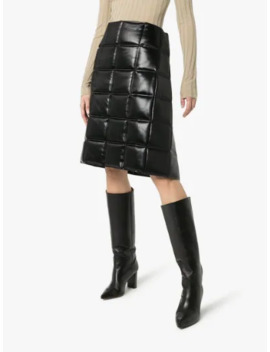 quilted-wrap-midi-skirt by bottega-veneta