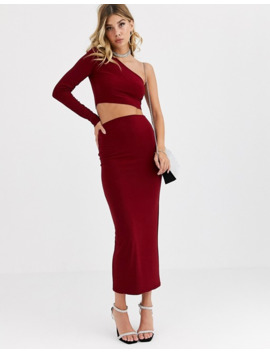 aym-premium-bodycon-midaxi-skirt-coord-in-berry by aym-studio