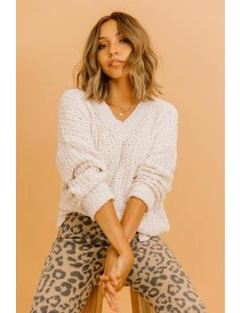 Fall To Pieces Cream Sweater by Luca And Grae