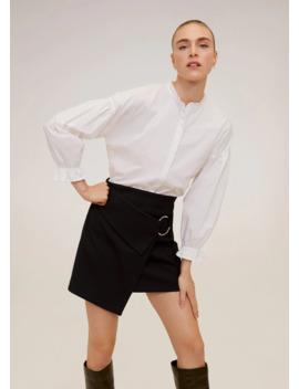 round-buckle-mini-skirt by mango