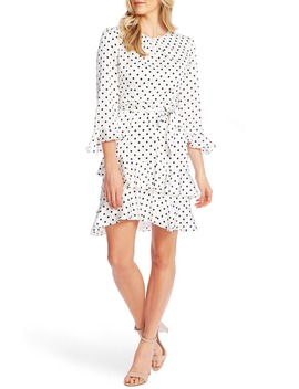 pop-dot-tiered-ruffle-fit-&-flare-dress by cece