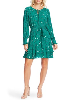 tossed-floral-long-sleeve-dress by cece