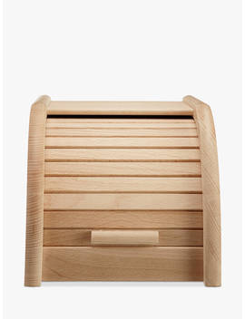 john-lewis-&-partners-classic-wood-roll-top-bread-bin,-w20cm by john-lewis-&-partners