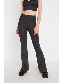 uo-diamante-glitter-flare-trousers by urban-outfitters