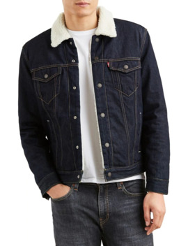 faux-shearling-denim-trucker-jacket by levis