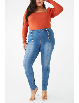 plus-size-high-rise-ankle-pants by forever-21