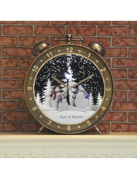snowing-christmas-scene-alarm-clock by winter-wonderland