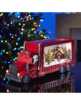 christmas-truck-with-snow-scene-decoration by the-range