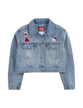 levis-girls-hello-kitty-denim-jacket-toddler by levi