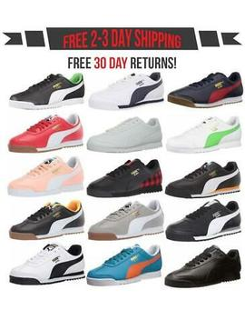 puma-roma-basic-mens-fashion-retro-sneakers-classic-casual-shoe-leather-sneaker by puma