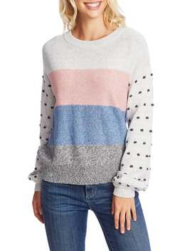 marled-stripe-&-bobble-stitch-sweater by cece