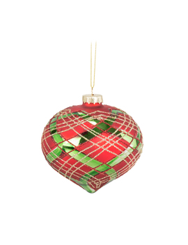 red-green-tartan-bauble by the-range