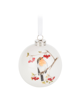 Hanging Robin Decal Bauble by The Range