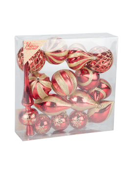 Red And Gold Bauble Assortment by The Range