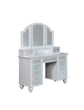 white-tracy-vanity-mirror-and-stool-set-with-contemporary-style-storage-drawers-and-3-mm-mirror-inserts by williams-home-furnishing