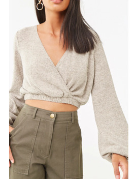 peasant-sleeve-crop-top by forever-21