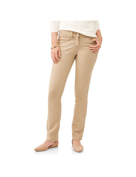 time-and-tru-womens-core-bootcut-jean,-brown-stone,-20 by time-and-tru