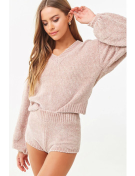 chenille-pajama-set by forever-21