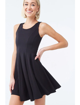 sleeveless-mini-skater-dress by forever-21