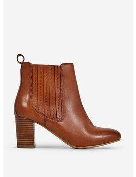 Tan 'Oz' Leather Chelsea Boots by Dorothy Perkins