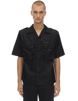 bowlinghemd-aus-nylon by prada