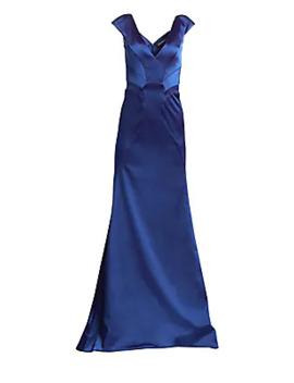 v-neck-stretch-satin-a-line-gown by zac-posen