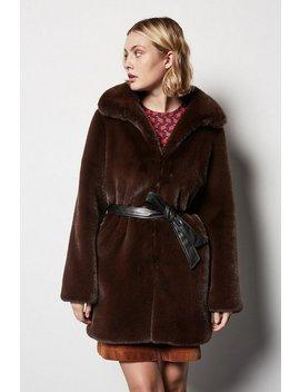 belted-faux-fur-coatbelted-faux-fur-coat by karen-millen